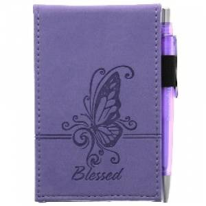 "Purple ""Blessed"" Pocket Notepad w/Pen"