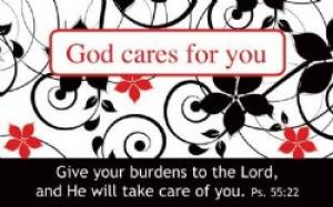 """God cares for you"" Pass-Around Cards"
