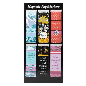 Rejoice Always Magnetic Page Markers - Pack of 6