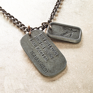 Isa 40:31 - Dog Tag