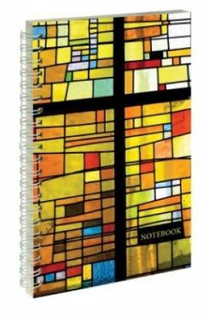 Stained Glass - Frosted Wirebound Notebook