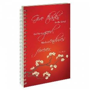 Give Thanks - Frosted Wirebound Notebook