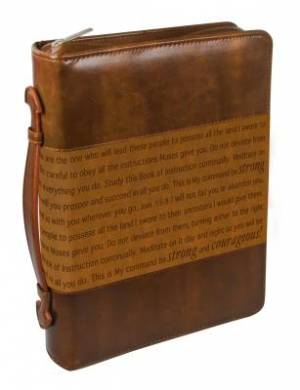 Courageous (Brown) Two Tone LuxLeather Bible Cover- Medium