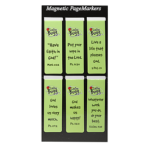 LaeDee Bug - Green Magnetic Bookmark - Set of 6