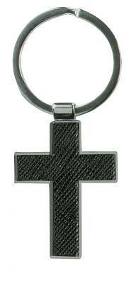 John 3:16 - Metal Cross Keyring