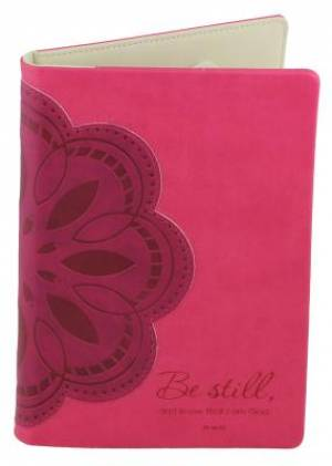 Kindle Fire eReader Cover - Pink Flower - Psalm 46:10 (does not fit Kindle Fire HD)