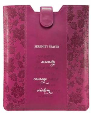 Tablet Case / eReader Sleeve Raspberry - Serenity Prayer