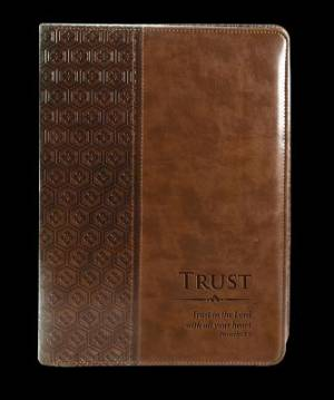 """Trust"" Legal Size Zippered Portfolio - Proverbs 3:5"