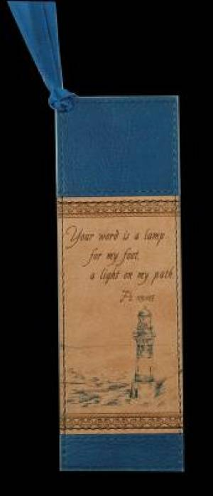 Ps 119:105 - Faux Leather Bookmark