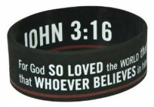 Black Wristband Jn 3:16