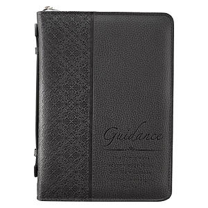 """Guidance"" (Black) LuxLeather Bible Cover, Medium"
