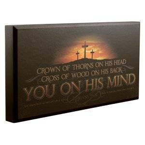 You On His Mind Wooden Plaque with Romans 5:8