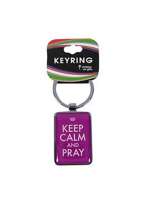 Keep calm and Pray Metal Keyring