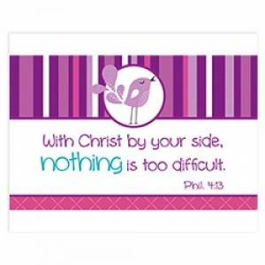 """With Christ by your side"" (Purple) Pass-Around Cards"