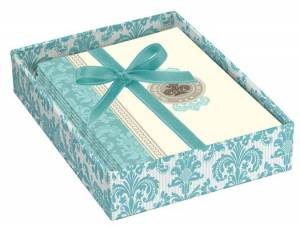 Aqua Prints Boxed Notecards (8) - Psalm 84:11