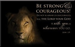 Magnet - Lion - Josh 1:9
