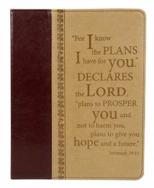 """""""I Know the Plans"""" Two-tone Inspirational Tablet Case / Cover - Jeremiah 29:11"""