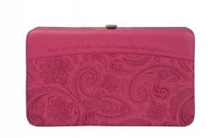 Pink Paisley Opera Wallet - Isaiah 40:31