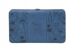"""Rejoice"" Blue Opera Wallet - Psalm 100:2"