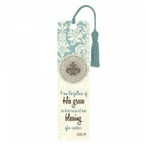 """Grace and Blessing"" (Teal) Bookmark"