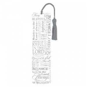 """Rejoice"" (Silver) Bookmark"