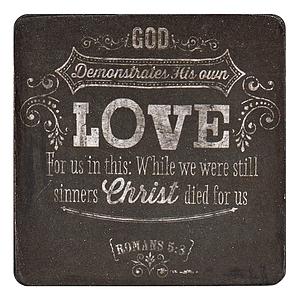 Love Rom 5:8 Wood Magnet
