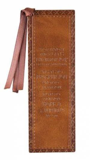 Brown Plans Jer 29:11 LuxLeather Pagemarker