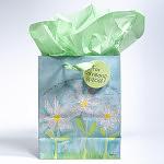 Gift Bag - Medium - White Daisies Psalm 118:24