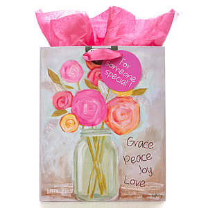 Gift Bag Medium - Flowers Grace Peace