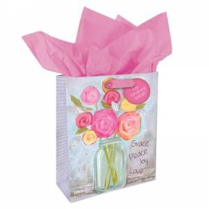 Gift Bag Small - Flowers Grace Peace