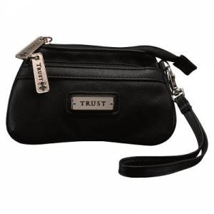 Coin Purse w/ Badge Trust Black