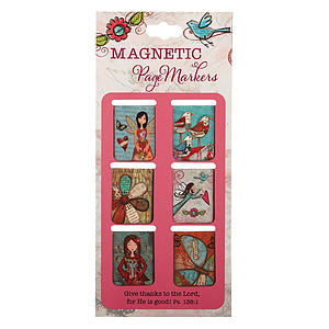 Give Thanks Ps 136:1 Magnetic Pagemarker - Pack of 6