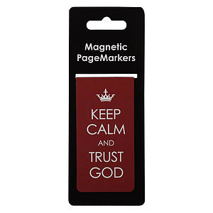 Keep Calm Trust Ps 46:10 Magnetic Pagemarker