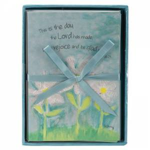 Petals of Praise Daisy Boxed Notecards (8) - Psalm 118:24