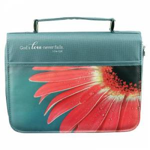 Bible Cover Medium - Gerbera - God's Love Never Fails