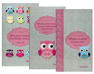 Wisdom Owl Pack of 3 Notepads