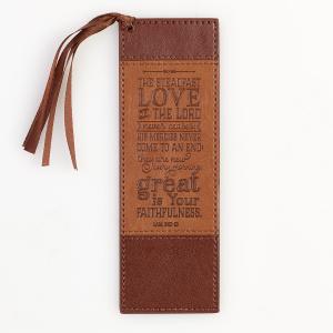 Bookmark-Pagemarker-Steadfast Love-LuxLeather-Tan/Brown