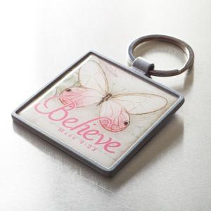 Believe Butterfly Keyring