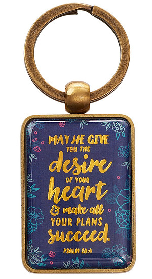 May He Give You the Desires of Your Heart Keyring