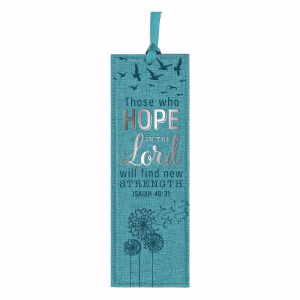 Bookmark-Pagemarker-Those Who Hope-LuxLeather-Teal