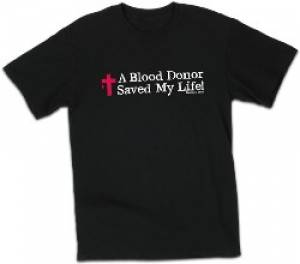 T-Shirt Blood Donor Black Medium