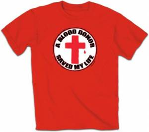 T-Shirt Blood Donor Rd     SMALL