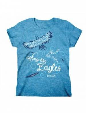 Wings Like Eagles T Shirt: Ladies Fitted Adult Small
