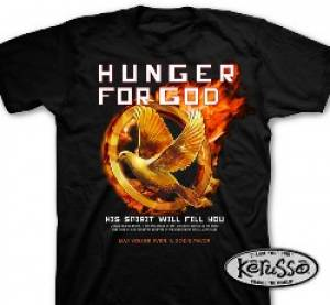 T-Shirt Hunger for God    MEDIUM