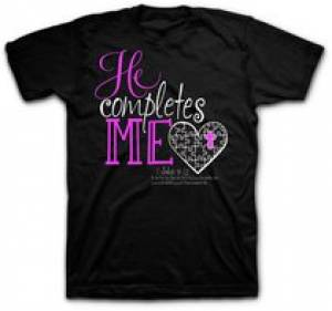 T-Shirt He Completes Me  X-LARGE