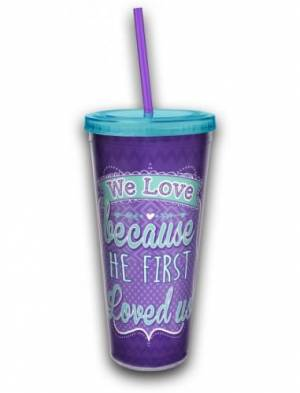 Acrylic Tumbler w/ Straw - We Love