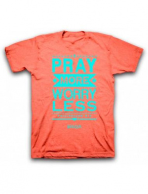 T-Shirt Pray more worry less Small