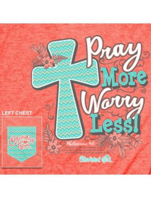 Cherished Girl Adult T-Shirt Pray More Medium