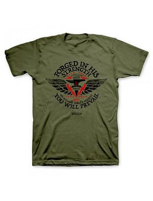 T-Shirt Forged in His Strength Adult Medium