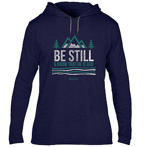 Be Still And Know Hooded T-Shirt, Small